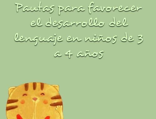 Pautas para favorecer el lenguaje de niños de 3 a 4 años