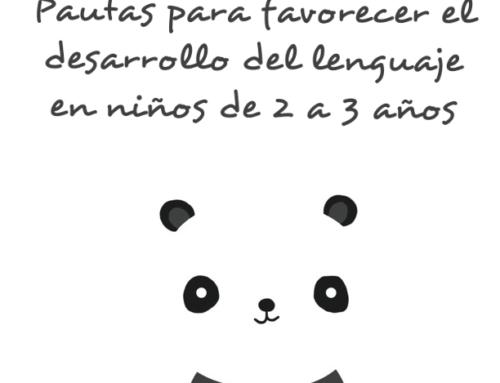 Pautas para favorecer el lenguaje de niños de 2 a 3 años