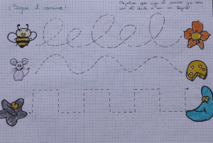 Sigue el caminito material logopedico para trabajar la grafo-motricidad