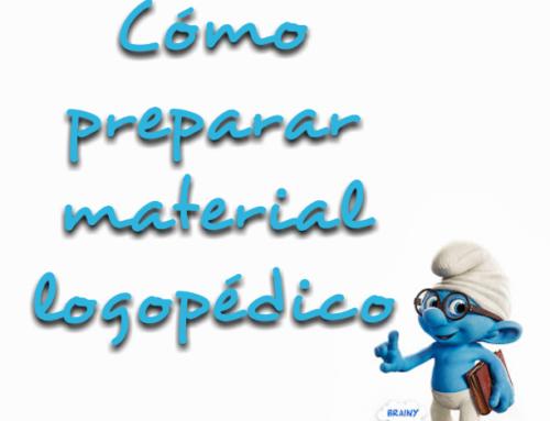Cómo preparar material logopédico