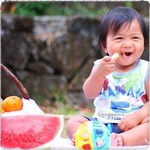 Juego con los alimentos para niños de 0 a 3 años