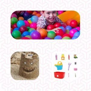Juego de la caja sensorial para niños de 0 a 7 años